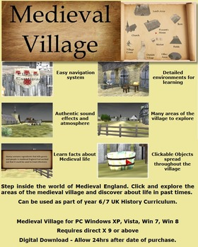 Medieval Village PC Game activity history medieval research for students.