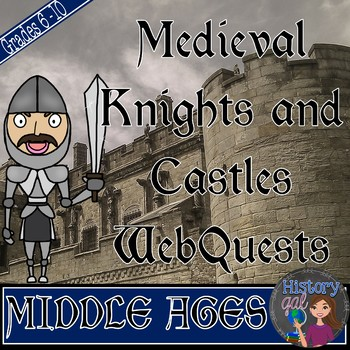 Medieval Knights, Warfare, and Castles WebQuests