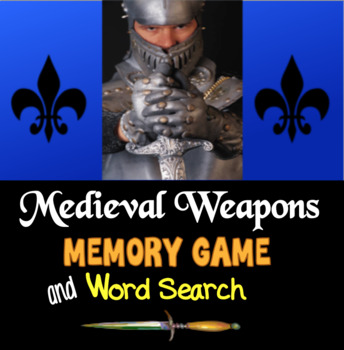 Medieval Weapons Memory Game