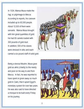 Mansa Musa + Quiz