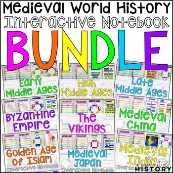 Medieval World History Interactive Notebook and Graphic Organizers Bundle