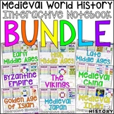 Medieval World History Interactive Notebook and Graphic Or