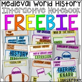 Medieval World History Interactive Notebook and Graphic Organizers Freebie