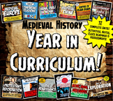 Medieval World History Year in Curriculum: Mega Activity and Note Bundle