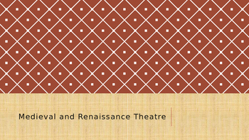 Medieval and Renaissance Theatre