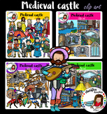 Medieval castle clip art- big set of 84 items!