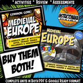 Medieval of Feudal Europe Complete Unit & Google Ready Combined History Bundle