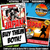 Medieval or Feudal Japan Complete Unit & Google Ready Combined History Bundle