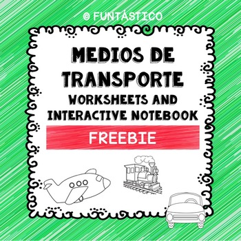 Medios de Transporte Worksheets and Interactive Notebook FREEBIE!