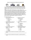 Medios de transportacion- worksheet