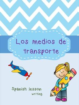 Medios de transporte Spanish Writing