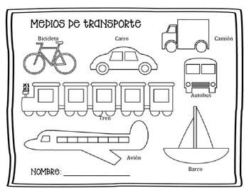 Medios de transporte -  Transportation