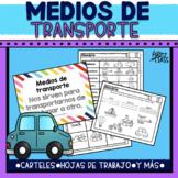 Medios de transporte (Hojas de trabajo y Carteles)