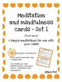 Meditation and Mindfulness Cards Set 1