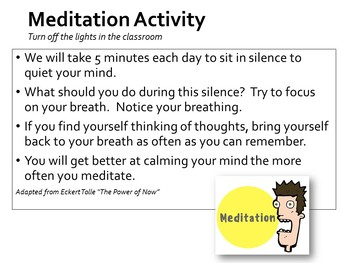 Meditation Classroom Management Funny Series #3 Quiet Your Head / Mind