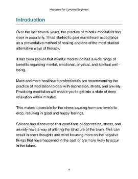 Meditation For Complete Beginners eBook PDF