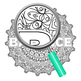 Meditation Mandalas Adult Level Coloring In Patterns Clip Art for Commercial Use