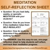 Meditation Student Self-Reflection Sheet