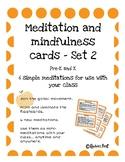 Meditation and Mindfulness Cards Set 2