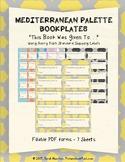 Mediterranean Palette Bookplates Fillable PDF - This Book