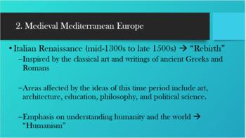 Mediterranean Europe PowerPoint