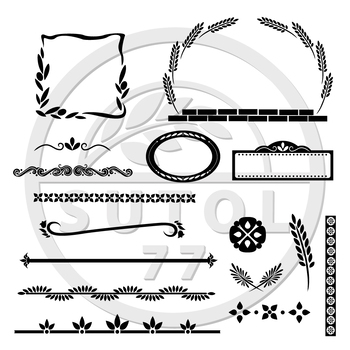 Mediterranean Set with Borders, Dividers & Graphic Elements