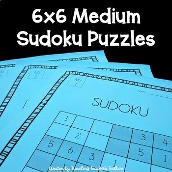 Medium 6x6 Sudoku Puzzles