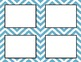 Medium Blue Chevron Classroom Labels