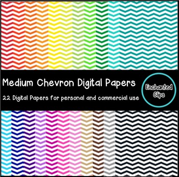 Medium Chevron Digital Papers- 22 Papers for Personal and Commercial Use