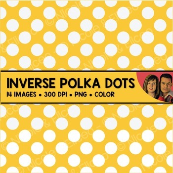 Inverse Polka Dot Backgrounds