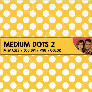 Digital Paper - Medium Polka Dot Backgrounds 2