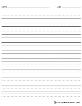 Medium Ruled Handwriting Paper