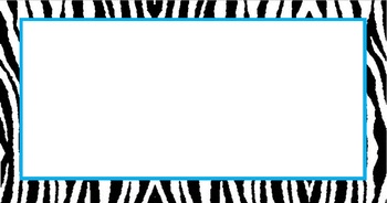 Medium Size Zebra Labels