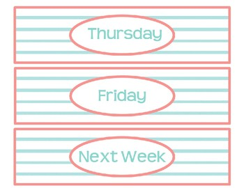 Medium Sterilite Drawer Labels--MINT AND CORAL--EDITABLE
