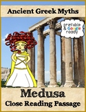 Medusa Reading Comprehension Passage & Questions - Printable & Google Ready
