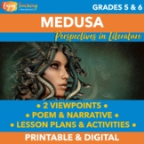 Medusa Mythology Activities for Classroom, Blended, or Dis