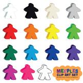 Meeples Game Piece Clip Art Set