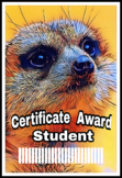 Meercat Award Certificates
