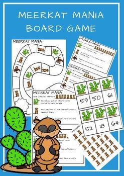 Meerkat Mania- Board Game- Ten Frames Actvity