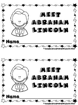 Meet Abe Lincoln (Emergent Reader, Teacher Lap Book, Picture/Vocabulary Cards)