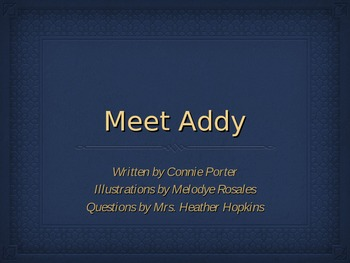 Meet Addy Higher Order Thinking Questions Powerpoint
