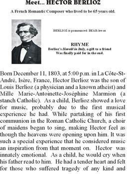 Meet BERLIOZ - Romantic Music Composer
