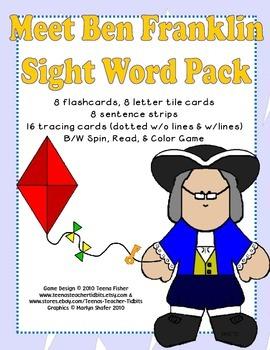 Meet Ben Franklin Sight Word Treasures Reading Series Literacy Center