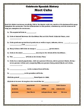 Meet Cuba: Student Activity