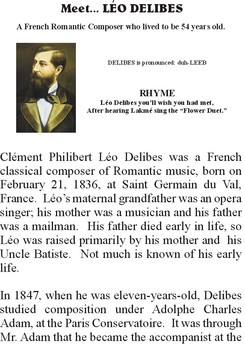 Meet DELIBES - Romantic Music Composer