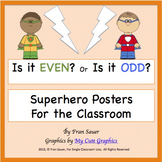 Odd and Even Classroom Posters