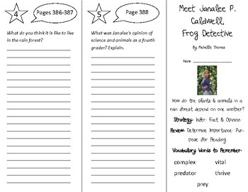 Meet Janalee P. Caldwell Trifold - 4th Grade Literacy by Design Theme 11