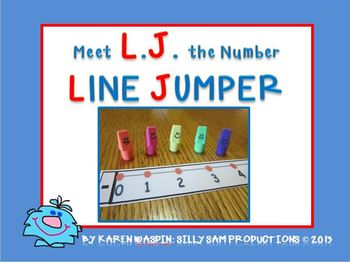 Number LINE JUMPER FREEBIE: L.J. the NUMBER LINE JUMPER!