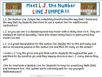 Number LINE JUMPER FREEBIE: L.J. the NUMBER LINE JUMPER!