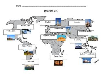 Meet Me At Buddies (World Map)